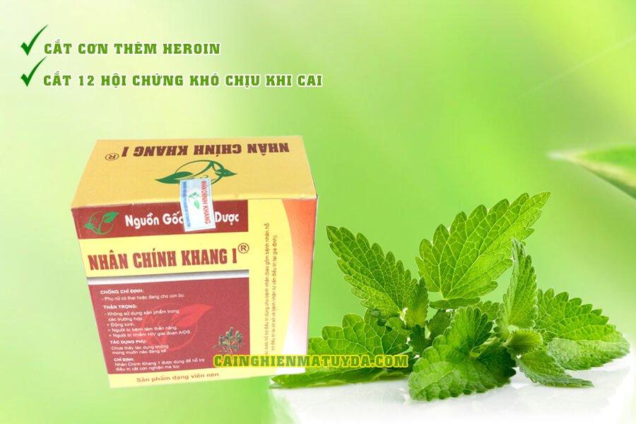 Nhân Chính Khang 1 hỗ trợ cắt cơn cai nghiện heroin, thuốc phiện tại nhà