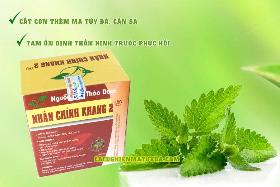 Nhân Chính Khang 2 và 3 hỗ trợ cai nghiện ma túy đá, cần sa, cỏ mỹ tại nhà