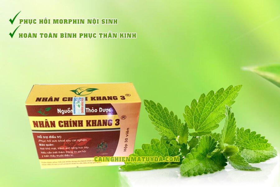 Nhân Chính Khang 3 hỗ trợ phục hồi thần kinh sau cắt cơn cai nghiện ma túy tại nhà